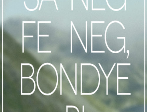 Haitian Proverb May 26